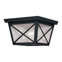 Livex Lighting - Livex Lighting 2679-04 Outdoor Ceiling Mount - Glass Type/Shade Type: Seeded Glass