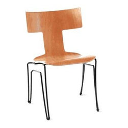 Anziano Chair | Donghia - As if the stunning molded T-back silhouettes of these chairs were not stunning enough, the legs add double the fun. They are available in several color choices.