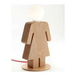 ParrotUncle - Wooden Table Lamps Unique Women's Shape for Bedroom Lighting - Table lamps are important for our home decoration. It will bring soft light for us, and it is a special décor for our decoration style need. These series human body shape lamps are unique and stylish. They are differentiated in boys', girls', men's and women's to cpmpose a happy family.