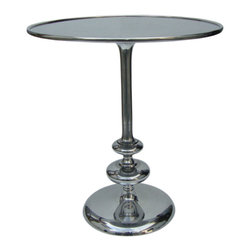 Marco Polo Imports - Gracie Pedestal Table - With a vintage-inspired personality, the Gracie pedestal table features a fashion forward style. This table is a bold and stately display of modern furniture.
