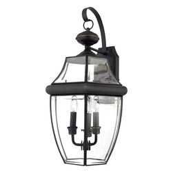 Quoizel - Quoizel NY8318Z Newbury Traditional Outdoor Wall Sconce - When it comes to curb appeal, outdoor lighting plays a large part in creating a special ambiance. The classic design and beveled glass of the Newbury gives the outside of your home a rich elegance, without making it look over-embellished. It's a versatile look that coordinates with most any architectural style.