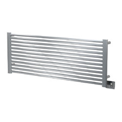 Amba - Ladder 56x21 Electric Heated Towel Warmer, Polished - Dual-purpose radiator functions as towel warmer and space heater