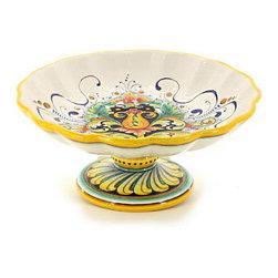 Artistica - Hand Made in Italy - Deruta Glt: Footed Bowl (Dec. 197) - Deruta Vario Collection: