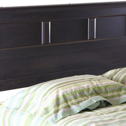 South Shore - Full or Queen Headboard in Ebony Finish - Manufactured from eco-friendly, EPP-compliant laminated particle boardcarrying the Forest Stewardship Council (FSC) certification. Ebony finish. Assembly Required. 66 in. L x 3 in. W x 45 in. H