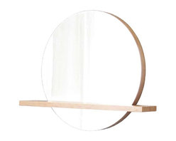 """Native Trails - Native Trails 28"""" Solace Mirror Shelf in Caramel - *Handcrafted solid Caramel bamboo"""