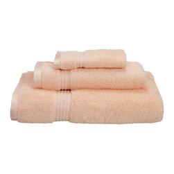 Superior Egyptian Cotton 3-Piece Peach Towel Set - Superior 600GSM 3-Piece Peach Towel Set