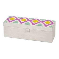 Townsend Beaded Jewelry Box - Part of the Indian Summer trend, this beaded box is fun and functional.