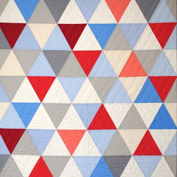 Equilateral Triangles Crib Quilt by Carson Converse Studio - If you love Carson Converse's quilt designs but aren't yet ready to make the investment, check out his smaller stroller quilts and greeting cards too.