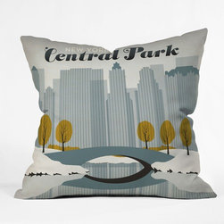 """DENY Designs - Anderson Design Group Polyester Central Park Snow Indoor/Outdoor Throw Pillow - Do you hear that noise? It is your outdoor area begging for a facelift and what better way to turn up the chic than with DENY Designs Indoor/Outdoor Throw Pillows. Made from water and mildew proof woven polyester, our Indoor/Outdoor Throw Pillow is the perfect way to add some vibrance and character to your boring outdoor furniture while giving the rain a run for its money. Features: -Anderson Design Group collection. -Fabric: Water and mildew proof woven polyester. -Fill: Mildew resistant polyester fill. -Closure: Sealed. -Spot treatment with mild detergent. -Manufacturing: 6 color dye process, custom printed for every order. -Made in the USA. -Closure: Concealed zipper with bun insert. -Medium dimensions: 18"""" H x 18"""" W x 5"""" D. -Large dimensions: 20"""" H x 20"""" W x 6"""" D. -Product weight: 2 lbs."""