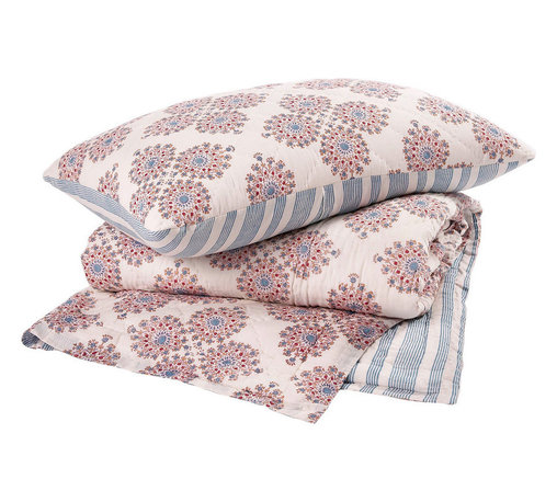 Periwinkle Quilt - I'm not sure you could really create a proper boho bedroom these days without using some of John Robshaw's beautiful block-print textiles.