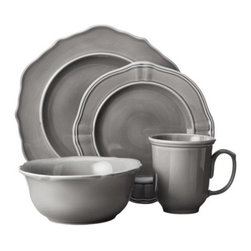 Threshold 16-Piece Wellsbridge Dinnerware Set, Charcoal - The updated color makes these inexpensive dishes look posh and modern.