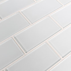 "Rocky Point Tile - Snow White 3"" x 6"" Glass Subway Tiles - A cool bright white glass subway tile perfect for a kitchen or bathroom in need of a bright finish. These tiles come loose packed giving you the option to arrange them in the pattern of your choice. Each tile is back painted and has a high gloss finish."