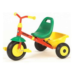 Kettler Air Junior Tricycle - The Junior is perfect for that special little one.The product line continues the tradition of the KETTLER® German made items. The Junior Tricycle is a classic model that grows with your child, with a bright red, green and yellow design.