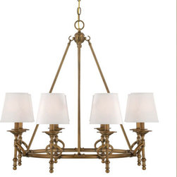 Savoy House - Foxcroft Aged Bronze Eight-Light Chandelier - -Foxcroft will add an elegant touch to your home decor with clean lines and a lustrous Aged Brass finish. Designed by Brian Thomas, these stunning fixtures mix classic design with contemporary flair. Savoy House - 1-4158-8-291