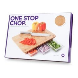 Quirky - Quirky Mocubo One Stop Chop Bamboo Cutting Board with Storage Containers - It's time to take food preparation to the next level. Mocubo is a bamboo cutting board with three food preparation containers.