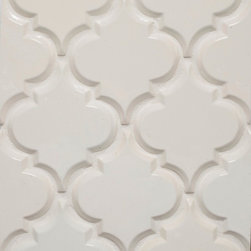 Mission Stone Tile - Beveled Arabesque BackSplash Tile, Ivory, Samples - Beveled Arabesque Tile| Ivory Sample