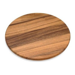 Lipper International Inc. - Acacia 16-Inch Wood Lazy Susan - Put everything within reach with the Acacia Lazy Susan. Large enough to hold all of your condiments or several small dishes, this perfect wooden kitchen helper spins around for easy access.