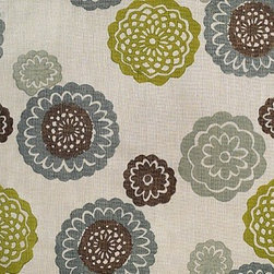 Zinnia Fabric by Galbraith and Paul in Sky - This vibrant pattern has sustained its popularity for quite a few years, whether you choose to cover a chair or loveseat with it, buy a drum pendant fashioned from it, or simply want to add some fun throw pillows that pack a punch.