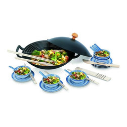 Beka - Beka 30 Pc. Family Wok Set - Wok set in cast iron for 6 people. It comes with a lid, a rack and all sorts of accessories. The wok is suitable for all hobs, including induction.