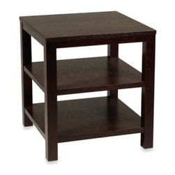 """Office Star Products - Avenue Six Merge 20-Inch Square End Table in Espresso - The perfect way to add some functional style to any space, this 20"""" square table boasts 3 surfaces to use for displaying and/or storing all of your household essentials."""