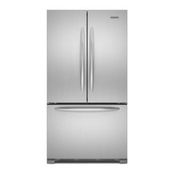 """KitchenAid - Architect Series II KFCS22EVMS 36"""" 21.8 cu. ft. Capacity French Door Refrigerato - The KitchenAid KFCS22EV 218 Cu Ft French-door refrigerator with an internal water dispenser is an Energy Star qualified appliance The SatinGlide crisper drawers and freezer baskets slide in and out easily even when fully loaded Flat smooth doors with..."""
