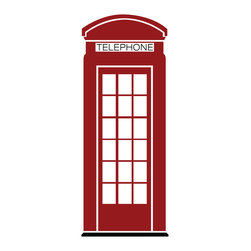 Dana Decals - London Phone Booth Wall Decal - Ideal for homes, kids rooms, and schools.