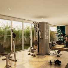 Contemporary Home Gym by Eduarda Correa Arquitetura & Interiores