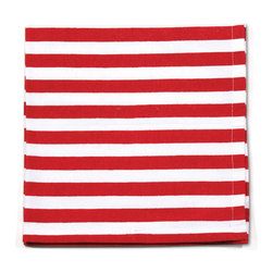 Origin Crafts - Patriotic red striped napkins set/6 - Patriotic Red Striped Napkins Set/6 Interior use. Dry clean only. Machine wash napkins on cold gentle cycle, low tumble dry. Cotton. Dimensions (in):19.5 x 19.5 By Napa Home & Garden - Napa Home & Garden is a wholesale manufacturer of distinctive home & garden decorative accessories. Estimated Delivery Time 1-2 Weeks. Please be aware that some products are handmade and unique therefore there may be slight variations in each individual product.