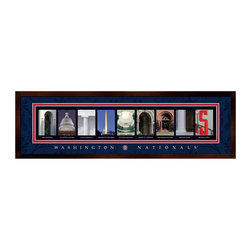 Prints Charming - Framed Letter Wall Art - Washington Nationals - 24W x 8H in. Multicolor - BLAL1B - Shop for Photo Albums Frames and Storage from Hayneedle.com! The owner of the Baltimore Orioles once famously stated There are no baseball fans in Washington D.C. and I'm sure you already know just the person who would love the Framed Letter Wall Art - Washington Nationals - 24W x 8H in. and would love to prove that guy wrong. This is a perfect gift for the home or office of any Nationals fan with a photo collage that's made up of images from around the stadium and Washington D.C. The durable MDF frame is vinyl-wrapped and the collage is faux-matted under a sheet of shatter-resistant glass.