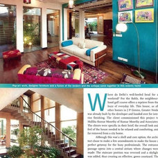 Eclectic Living Room by Preeti Knowles