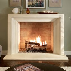 "The Giada Fireplace Surround - The pleasing blend of clean lines and finite details invite this surround into both contemporary and transitional settings. The 8"" monolithic depth gives way to deeply carved and symmetrical properties."