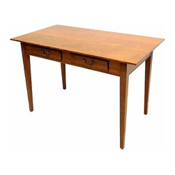 Eldred Wheeler - Two Drawer Computer / Writing Desk In Cherry - This beautiful handcrafted computer desk is the perfect work station for students or professionals, as a gift for your new college graduate or perhaps as a stylish work station in your vacation home!