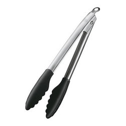 "Rosle - Rosle Silicone Locking Tongs 9"" - Heat resistant up to 500 F Patented coupling mechanism can be opened and locked together using just one hand. Safe and comfortable handling is assured through the ergonomic design of the locking tongs. Silicone end is 1.5 mm thick. Stainless steel handles. Space saving storage in locked position. Dimensions: Length 9"" (23 cm) . 5-year warranty."