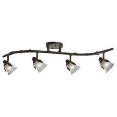 Shop Portfolio 4-Light Painted Olde Bronze Fixed Track Bar Light Kit at Lowes.co