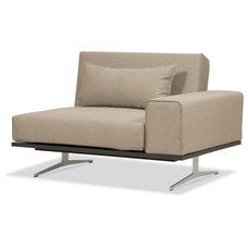 Modern Armchairs And Accent Chairs Metropolitan Beige-Grey Convertible Chair Left