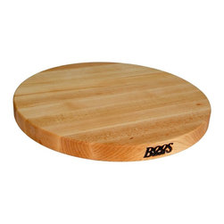 John Boos - Round Reversible Cutting Board - Set of 2 - Set of 2. Edge grain construction. Warranty: One year against manufacturing defects. Made from hard rock maple. Made in USA. 18 in. Dia. x 1.5 in. H