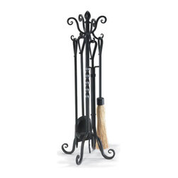 Victorian Tool Set - This stand is fashioned into a series of twists and curls reminiscent of its centuries-old counterparts. The hearth was once the quintessential gathering place for the family, and with pieces like this, you can make it so again.