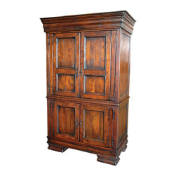 Four Hands - Easton Armoire - This antique-inspired armoire may not have been passed down through generations, but that doesn't mean you won't be the one to pass it on. Hand-crafted from ecofriendly wood, it features beaded inset panels, crown molding and classic proportions — with enough interior space to store your clothing or heirloom quilts.