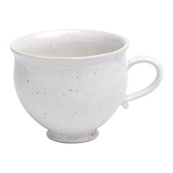 Casafina - Breakfast Mug, Solid Speckled White - Organic shaped handmade Portuguese stoneware. Durable enough to be used everyday and beautiful enough to be used on special occasions.