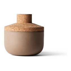 MENU - New Norm storage jar, 5.5in, 22oz - This storage jar has a character and style of its own. Earthen tones and contrasting textures combine to create a simply elegant container — one that looks fabulous no matter what you store inside.