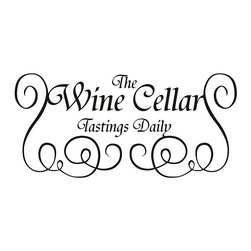 None - 'The Wine Cellar Tastings Daily' Black Vinyl Art Quote - Accent your living space with this elegant vinyl wall lettering art on your wall. Advising The Wine Cellar Tastings Daily, this piece sets a fun atmosphere with a minimalist black lettered design. Give as a gift, or keep as a complement to your home.
