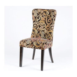 Mocha Swirl Accent Chair - You can never have too many accent chairs.  They are the perfect chair for extra seating around a dinner table or in the living room when entertaining.