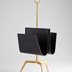 Cyan Design - Siamese Twin Magazine Holder - Siamese twin magazine holder - black and gold.