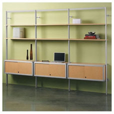 "Peter Pepper Envision® 84"" H Shelving System with Optional Credenza and Book En"