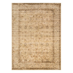 """Loloi Rugs - Loloi Rugs Mystique Collection - Flax/Antique Beige, 5'-2"""" x 7'-7"""" - Tapping into one of today's hottest trends, the brilliantly distressed Mystique Collection offers the look of aged hand-knotted rugs in an affordable power-loomed construction. Made in Egypt of polypropylene/viscose, these rugs are intentionally created with worn patterns to give the appearance of true antiques. Available in ten transitional and updated traditional designs, Mystique is colored with sophisticated bronze, brown, and beige hues."""