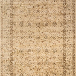 "Loloi Rugs - Loloi Rugs Mystique Collection - Flax/Antique Beige, 9'-8"" x 12'-8"" - Tapping into one of today's hottest trends, the brilliantly distressed Mystique Collection offers the look of aged hand-knotted rugs in an affordable power-loomed construction. Made in Egypt of polypropylene/viscose, these rugs are intentionally created with worn patterns to give the appearance of true antiques. Available in ten transitional and updated traditional designs, Mystique is colored with sophisticated bronze, brown, and beige hues."