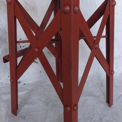 Established Industrial Bar Stool -