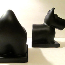 Scotty Dog Bookends - This set of bookends is painted with chalkboard paint.
