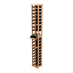 None - Traditional Redwood 2-Column Wine Rack with Display Row - Show off your collection of chardonnay, merlot, pinot grigio, and other varietals with this redwood wine storage rack. Transform a spot in any room into a wine wonderland thanks to this two-column rack that accommodates up to 40 bottles.