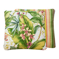 Chloe & Olive LLC - Tommy Bahama Tropical Hawaiian Outdoor Pillow - Relaxing Tommy Bahama print outdoor throw pillows will help transform your outdoors into an airy oasis you'll love all season long.